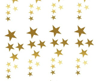 star stickers wall decoration; coloured furniture of your choice