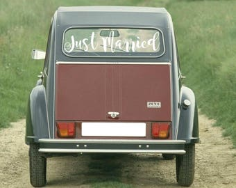 Sticker car Just Married personalized wedding
