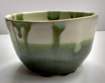 "Ceramic Bowl ""White and Celadon"""