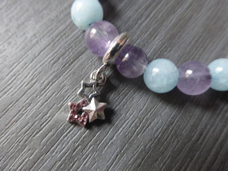 woman bracelet B334 Bracelet stones semi precious amazonite and agate layering