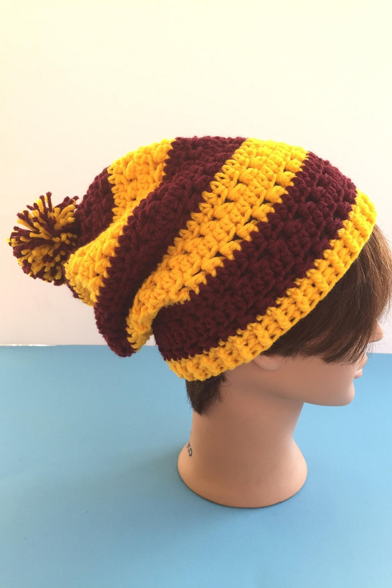 1918a2a7007 House pride slouchy hat inspired by harry potter gryffindor