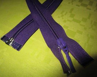dark purple colored nylon separable closure