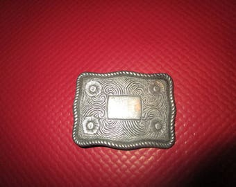 fancy silver metal belt buckle