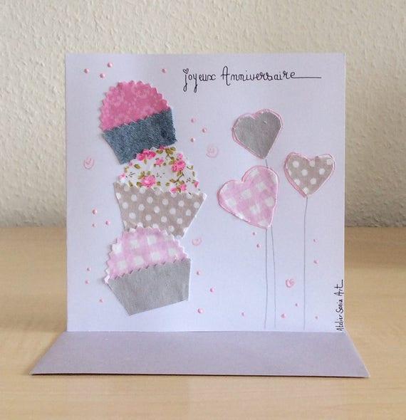 Handmade Original Birthday Card Birthday Scrapbooking Card Etsy