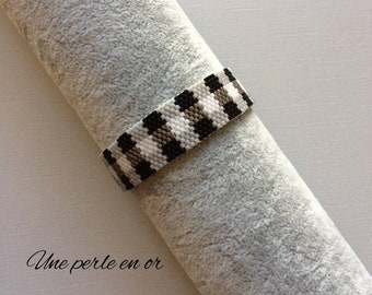 Scottish bracelet with miyuki glass beads