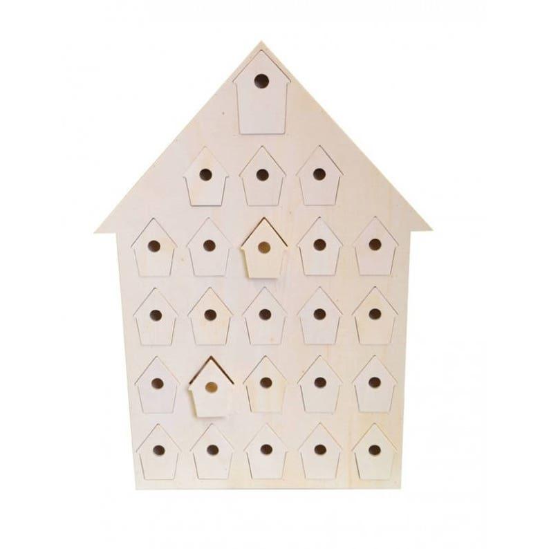 Advent Calendar Wood Blank Birdhouse Artemio Etsy