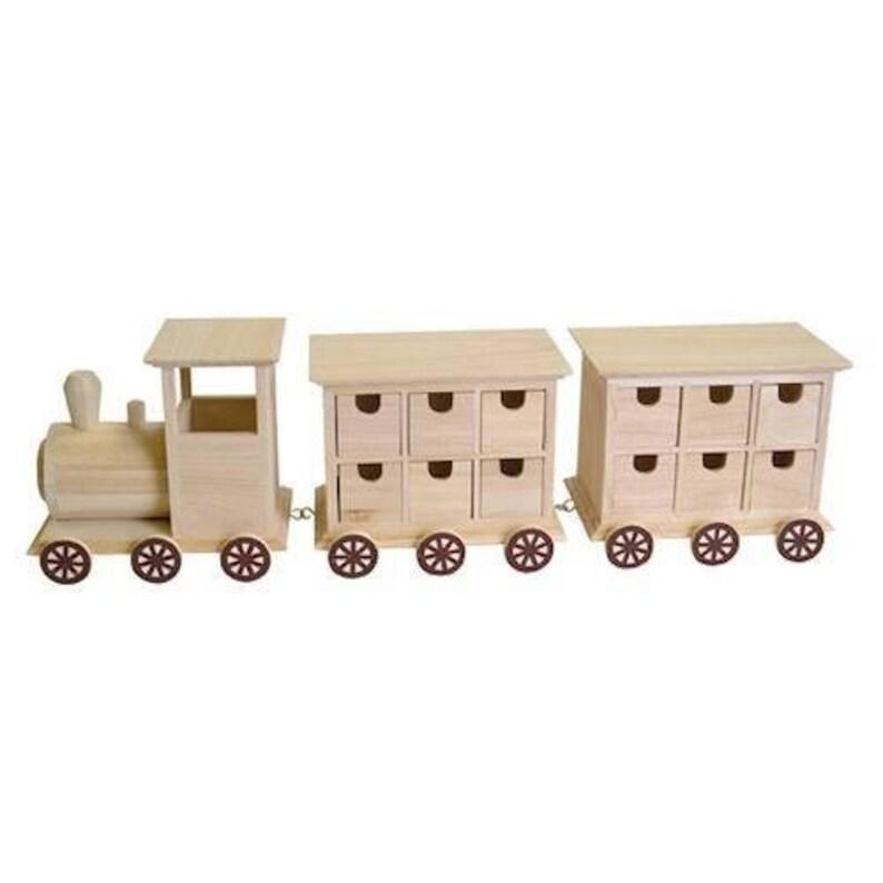 Advent Train Locomotive And Two Cars Calendar Artemio