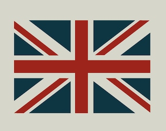 British flag stencil. Union Jack stencil. (ref 139)