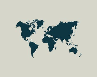 World map stencil etsy world map stencil world map stencil of the world ref 410 gumiabroncs Gallery