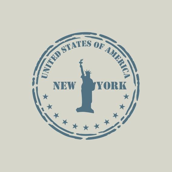 Stencil NYC Travel Stamp Ref 897 Adhesive Vinyl