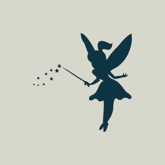 fairy fairy stencil fairy silhouette ref 294 etsy