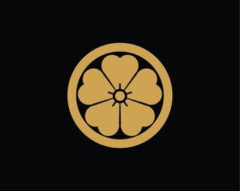 Sticker kamon sakura - cherry blossom (ref KA06)
