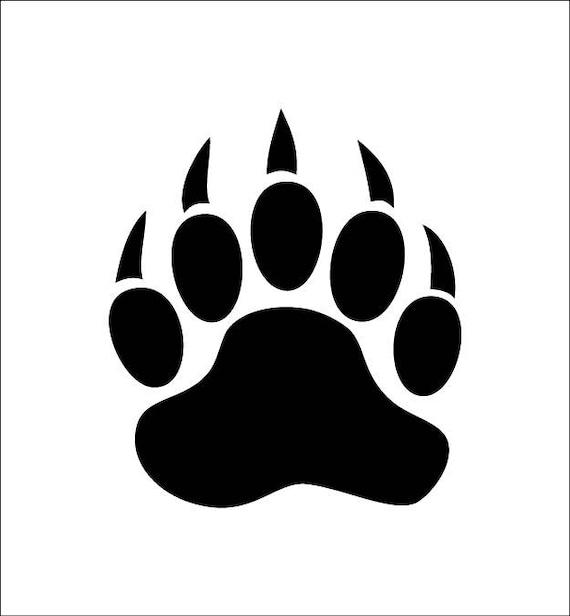 Bear  Bear paw  Bear print  Adhesive vinyl stencil  (ref 168)