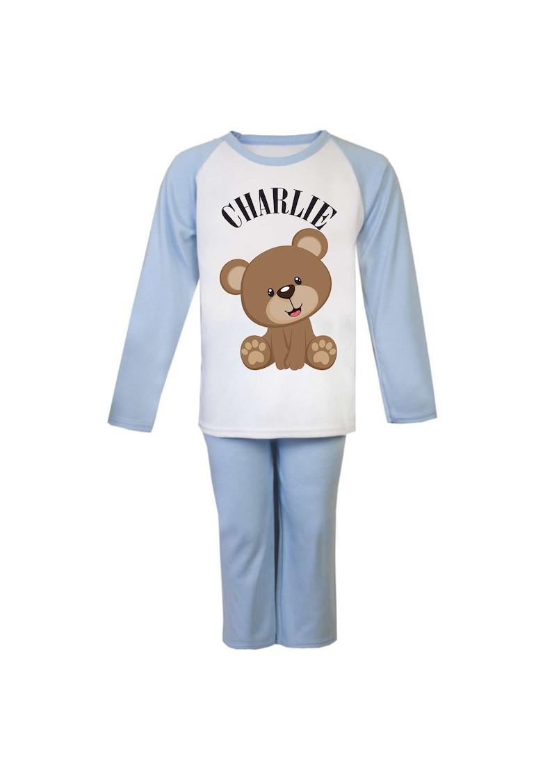 4575198b6c500 Les beaux garçons personnalisé Pyjamas Image imprimée et nom
