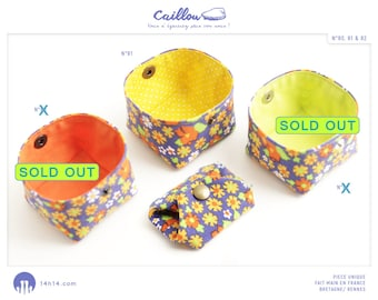 """Wallet """"Pebbles/81"""" blue flower and yellow polka dot or green"""