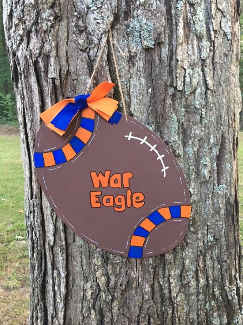 Auburn War Eagle,Football Door Hanger