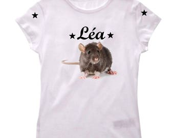Personalized with name Rat girl t-shirt