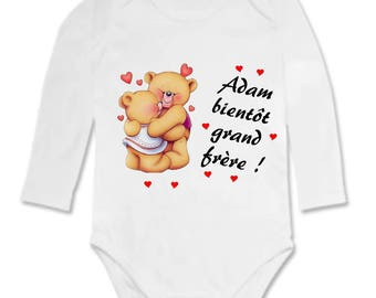 Soon big brother personalized with name Bodysuit