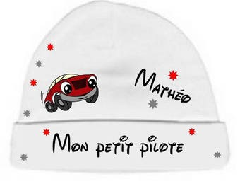 Beanie Baby white small pilot personalized with name