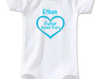 Future big brother personalized with name Bodysuit