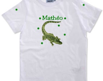 T-shirt boy Reptile personalized with name
