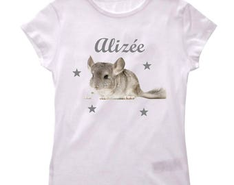T-shirt Decenniums girl personalized with name
