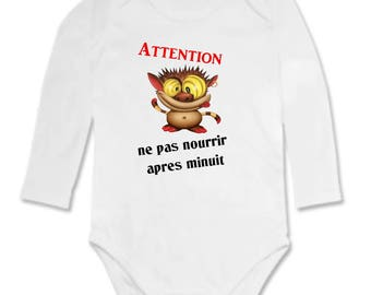 Bodysuit do not feed humor Attention...