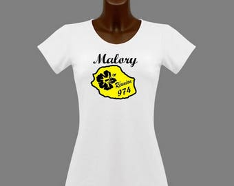 Women white t-shirt personalized with name