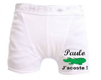White men underwear I disembarked personalized with name
