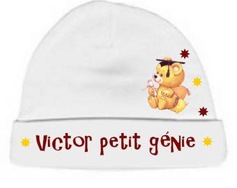Beanie Baby white small engineering personalized with name