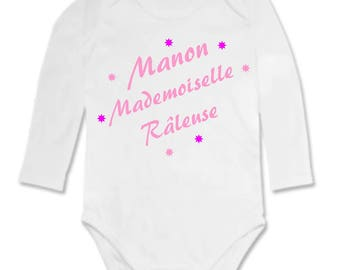 Bodysuit grouchy Miss personalized with name
