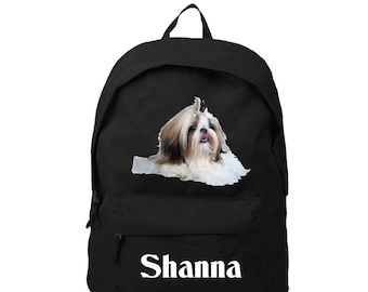 bag has black Shih tzu personalized with name