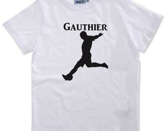 T-shirt boy football customized with name