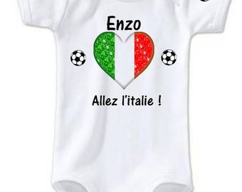 Go the Italy customized with name Bodysuit