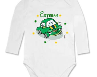 Bodysuit car personalized with name