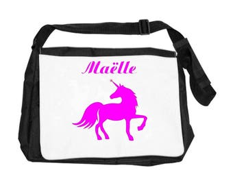 Unicorn bag personalized with name