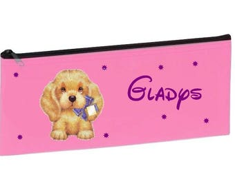 Personalized with name pink school dog Kit