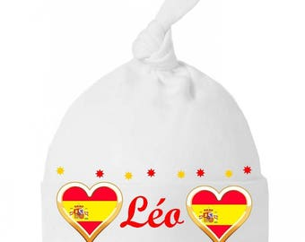 Baby bow personalized with name Spain baby bonnet