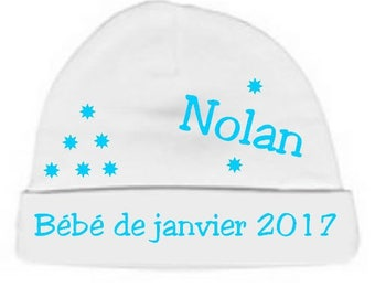 Beanie Baby white January 2017 personalized with name