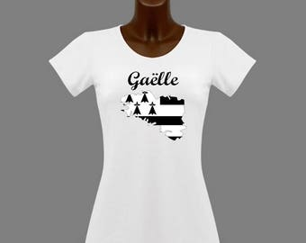 White women Brittany t-shirt personalized with name
