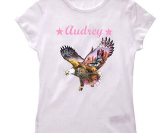 Design personalized with name and daughter Eagle t-shirt