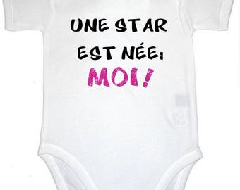 Funny baby Bodysuit a star is born