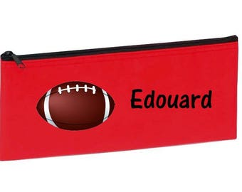 Red football personalized with name package
