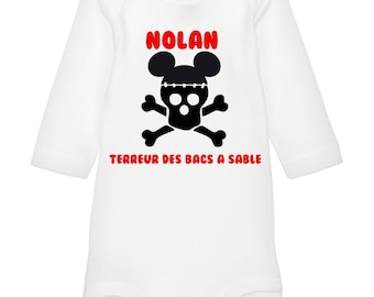 Bodysuit terror of the trays. personalized with name