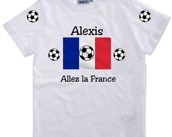T-shirt boy go the France customized with name