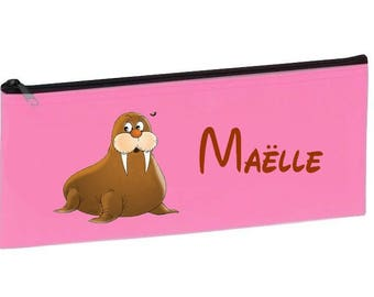 Personalized with name pink school seal Kit