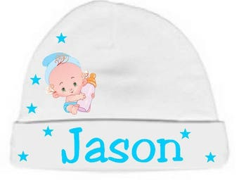 Beanie Baby white bottle personalized with name