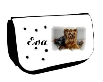 Cosmetic case Black /crayons Yorkshire personalized with name
