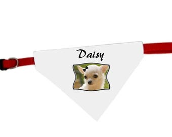 Necklace personalized with name Chihuahua dog bandana