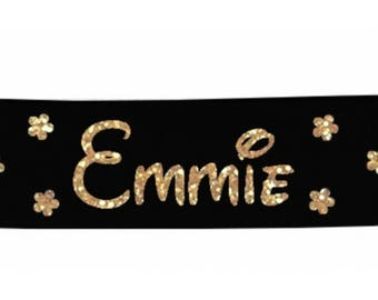 Black girl flowers personalized with name banner